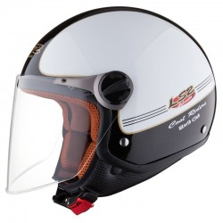 Otevřená helma LS2 Travis, OF560, lesklá bílo-černá