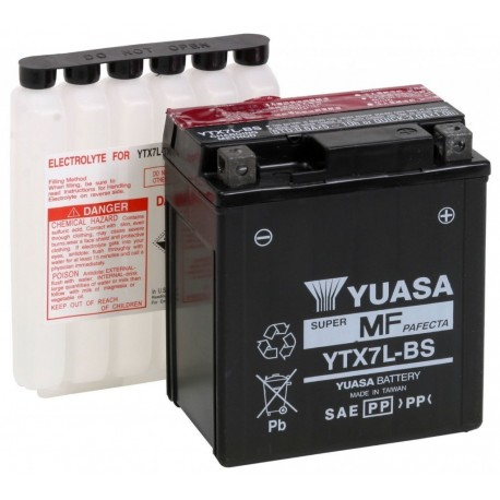 Bezúdržbová motobaterie Yuasa YTX7L-BS