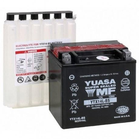 Bezúdržbová motobaterie Yuasa YTX14L-BS