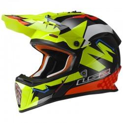Krosová helma LS2 Fast - Replika Isaac Viñales, MX437