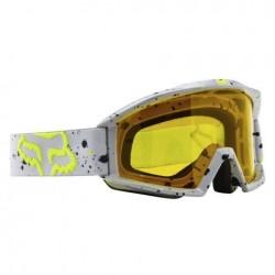 Motokrosové brýle Fox Main Nirv, šedo-žluté
