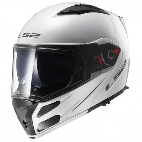 Výklopná helma LS2 Metro, FF324, lesklá bílá