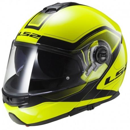 Výklopná helma LS2 Strobe, FF325, reflexní žlutá