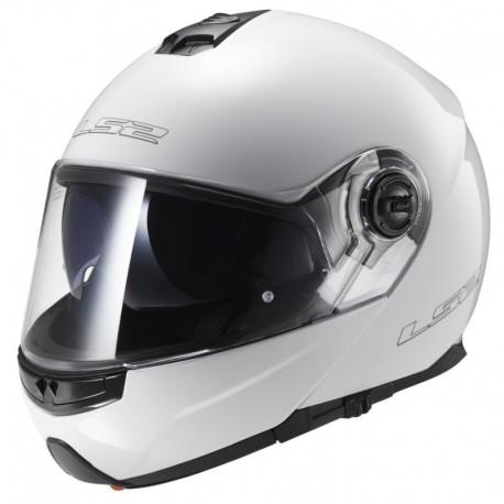 Výklopná helma LS2 Strobe, FF325, lesklá bílá