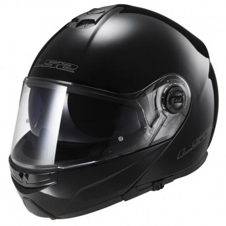 Výklopná helma LS2 Strobe, FF325, lesklá černá