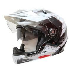 Multifunkční helma Cyber US-101, bílo-stříbrná