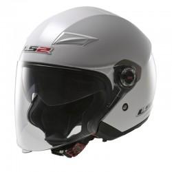 Otevřená helma LS2 Track, OF569, lesklá bílá