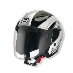 Otevřená helma Speeds City II, dekor stříbrná lesklá