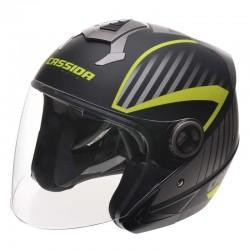 Otevřená helma Cassida Magnum, černo-šedo-žlutá