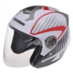 Otevřená helma Cassida Magnum, bílo-černo-červená