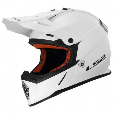 Krosová helma LS2 Pioneer, MX436, lesklá bílá