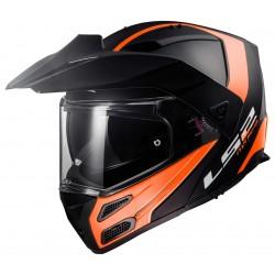 Výklopná helma LS2 Metro Evo Rapid, FF324, oranžovo-černá