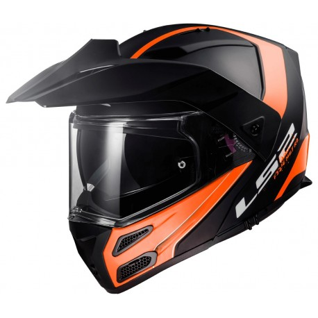 Výklopná helma LS2 Metro Evo Firefly, FF324, oranžovo-černá