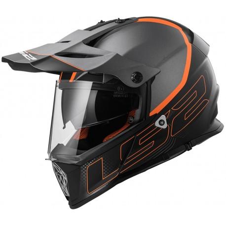 Krosová helma LS2 Pioneer Element, MX436, oranžovo-černá