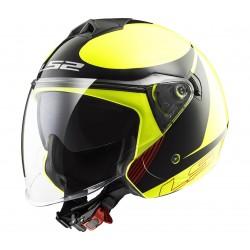 Otevřená helma LS2 Twister Plane, OF573, žluto-černá