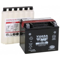 Bezúdržbová motobaterie Yuasa YTX12-BS