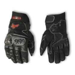 Krátké sportovní textilní rukavice Access černé