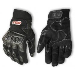 Krátké sportovní textilní rukavice TGB černé